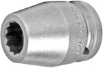 APEX 16MM17-D 16mm Standard Impact Socket, 3/4'' Square Drive