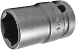 APEX 16MM45 16mm Standard Impact Socket, Thin Wall, 1/2'' Square Drive