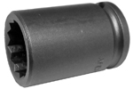 17MM13-D Apex 17mm 12-Point Metric Standard Socket, 3/8'' Square Drive