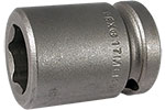 APEX 17MM15 17mm Standard Impact Socket, 1/2'' Square Drive