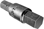 APEX 185-7MM 7mm Socket Head Metric Insert Bits, 1/4'' Hex Drive