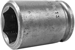 APEX 19MM13 19mm Short Impact Socket, 3/8'' Square Drive