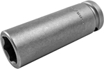 APEX 19MM35 19mm Extra Long Impact Socket, 1/2'' Square Drive
