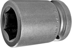 APEX 24MM17 24mm Standard Impact Socket, 3/4'' Square Drive