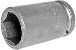 24MM25 Apex 24mm Metric Long Socket, 1/2'' Square Drive