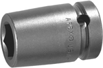 APEX 3022-D 11/16'' Short Impact Socket, 3/8'' Square Drive