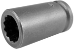3116-D Apex 1/2'' 12 Point Standard Socket, 3/8'' Square Drive