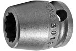 APEX 3210-D 5/16'' Long Impact Socket, 3/8'' Square Drive