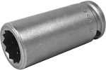 APEX 3218-D 9/16'' Long Impact Socket, 3/8'' Square Drive