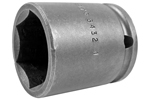 APEX 3432 1'' Standard Impact Socket, Thin Wall, 3/8'' Square Drive