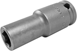 APEX 3512 3/8'' Long Impact Socket, Thin Wall, 3/8'' Square Drive