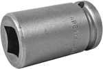 APEX 3614 7/16'' Single Square Nut Socket, 3/8'' Square Drive