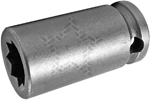 APEX 3614-D 7/16'' Double Square Nut Socket, 3/8'' Square Drive