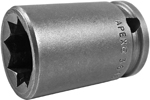 3618-D Apex 9/16'' Double Square Nut Standard Socket, 3/8'' Square Drive