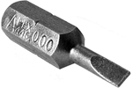 445-000X Apex Slotted Limited Clearance Insert Bits, 1/4'' Hex Drive