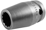 5114-D Apex 7/16'' 12-Point Standard Socket, 1/2'' Square Drive