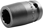 5116-D Apex 1/2'' 12-Point Standard Socket, 1/2'' Square Drive