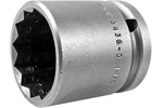 APEX 5436-D 1 1/8'' Standard Impact Socket, Thin Wall, 1/2'' Square Drive