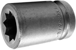 5616-D Apex 1/2'' Standard Socket, For Double Square Nuts, 1/2'' Square Drive