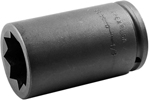 5836-D Apex 1 1/8'' Extra Long Socket, For Double Square Nuts, 1/2'' Square Drive