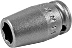 APEX 6MM11 6mm  Standard Impact Socket, 1/4'' Square Drive