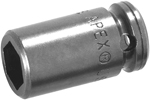 6MME1 Apex 6mm Metric Standard Socket, For Sheet Metal Screw, 1/4'' Square Drive