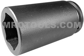 APEX 7348 1 1/2'' Extra Long Impact Socket, 3/4'' Square Drive