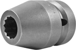 APEX 8124-D 3/4'' Standard Impact Socket, 12 Point, 1'' Square Drive