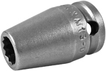 APEX 8MM13-D 8mm Standard Impact Socket, 3/8'' Square Drive
