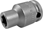 APEX 8MM43 8mm Standard Impact Socket, Thin Wall, 3/8'' Square Drive