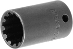 APEX CMS-3416 1/2'' Standard Spline Socket, 3/8'' Square Drive