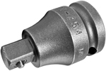 APEX EX-254 Straight Adapter, 3/8'' Square Drive, Pin Lock