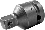 APEX EX-375 Straight Adapter, 1/2'' Square Drive, Pin Lock