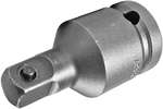 APEX EX-377-2 Straight Adapter, 1/2'' Square Drive, Pin Lock