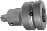 APEX EX-751-B Straight Adapter, 1/2'' Square Drive, Ball Lock
