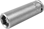 APEX M-1212 3/8'' Long Impact Socket, Magnetic, 1/4'' Square Drive