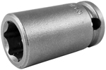APEX M-13MM13 13mm Standard Impact Socket, Magnetic, 3/8'' Square Drive
