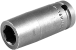 APEX M-13MM25 13mm Long Impact Socket, Magnetic, 1/2'' Square Drive