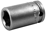 M-14MM13 Apex 14mm Magnetic Metric Standard Socket, 3/8'' Square Drive