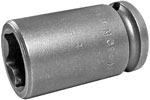 APEX M-15MM13 15mm Standard Impact Socket, Magnetic, 3/8'' Square Drive