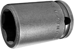 APEX M-17MM13 17mm Standard Impact Socket, Magnetic, 3/8'' Square Drive