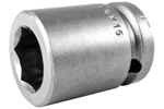 APEX M-17MM15 17mm Standard Impact Socket, Magnetic, 1/2'' Square Drive