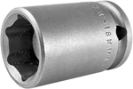 APEX M-18MM13 18mm Standard Impact Socket, Magnetic, 3/8'' Square Drive