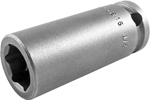 APEX M-3216 1/2'' Long Impact Socket, Magnetic, 3/8'' Square Drive