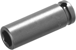 APEX M-6MM21 6mm Long Impact Socket, Magnetic, 1/4'' Square Drive