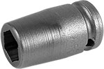 APEX M-7MME1 7mm Standard Impact Socket, Magnetic, For Sheet Metal Screws, 1/4'' Square Drive