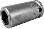 APEX M-8MME1 8mm Standard Impact Socket, Magnetic, For Sheet Metal Screws, 1/4'' Square Drive