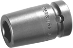APEX M1E16 1/2'' Impact Socket, Magnetic, For Sheet Metal Screws, Predrilled Holes, 1/4'' Square Drive