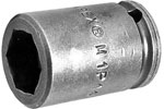 APEX M1P14 7/16'' Impact Socket, Magnetic, For Sheet Metal Screw, Self-Drilling And Tapping Screws, 1/4'' Square Drive
