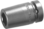 APEX M3E18 9/16'' Impact Socket, For Sheet Metal Screws, Predrilled Holes, Magnetic, 3/8'' Square Drive